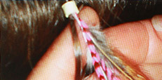 Newest Trends in Hair Feather Extensions - installation 3